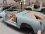 Restauration Porsche 356 Convertible D meissenblau 1958